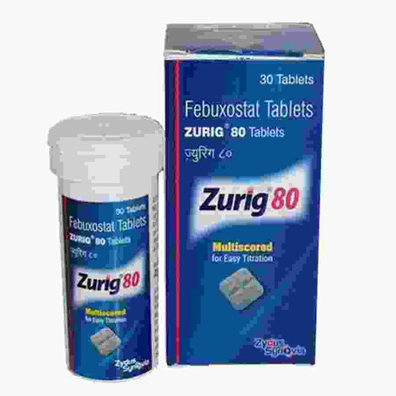 Zurig 80 mg Tablets : Indian Febuxostat